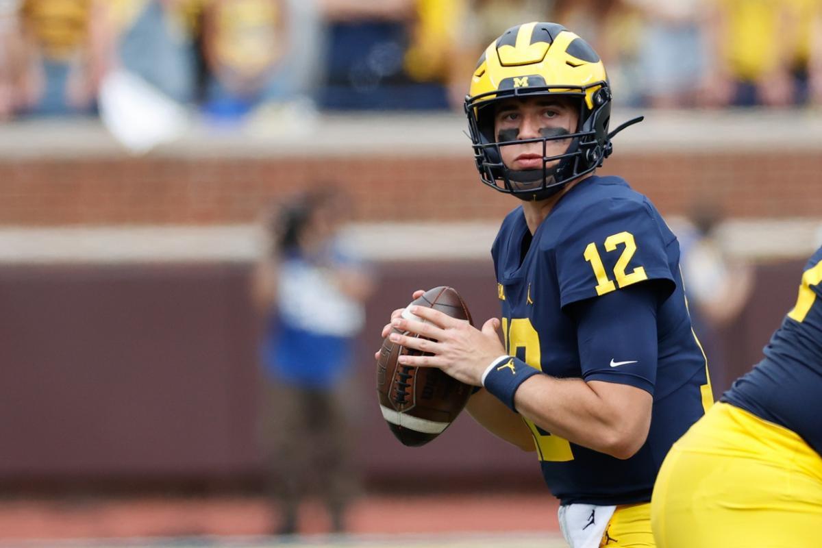 Michigan quarterback Cade McNamara