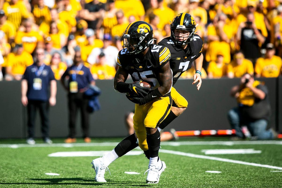 Iowa running back Tyler Goodson