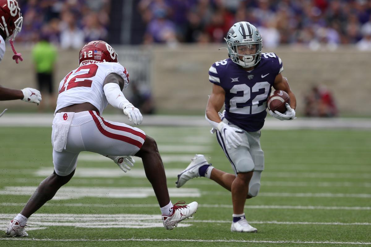 Kansas State running back Deuce Vaughn