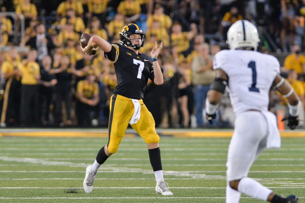 Iowa quarterback Spencer Petras